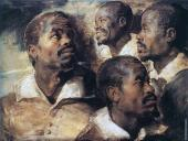Four Studies of the Head of a Negro (Rubens)