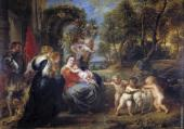 Rest on the Flight from Egypt with Saints (Rubens)