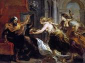 Tereus confronted with the head of his son Itylus (Rubens)