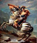 Napoleon on a Zebra (After David)