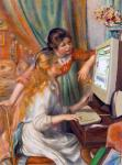 Girls with the computer (After Renoir)