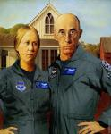 American Gothic Fighter Pilot (After Wood)