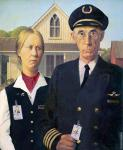 American Gothic Aviator (After Wood)