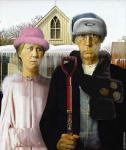 American Gothic Snowy (After Wood)