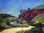 The Stagecoach Road in the Country with a Cart (Sérusier)