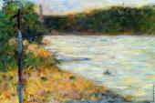 Bathing at Asnieres - A River Bank (Seurat)