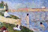 Bathing at Asnieres - Bathers in the Water (Seurat)