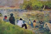 Bathing at Asnieres - The Bank of the Seine (Seurat)