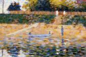 Boats near the Beach at Asnieres (Seurat)