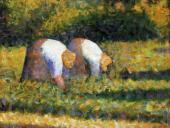 Farm Women at Work (Seurat)