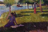 La Grande Jatte - Seated and Standing Woman (Seurat)