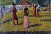 La Grande Jatte - The Rope - Colored Skirt (Seurat)