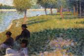 La Grande Jatte - Three Men Seated (Seurat)