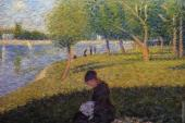 La Grande Jatte - Woman Sewing (Seurat)