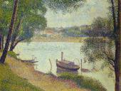 The Seine at La Grande Jatte in the Spring (Seurat)