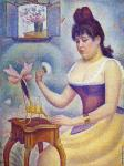 Young Woman Powdering Herself (Seurat)