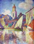 The steeple of Saint-Tropez (Signac)