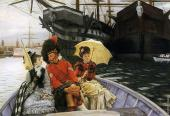 Portsmouth Dockyard or How happy I could be with either (Tissot)