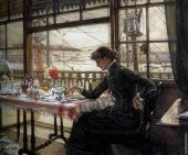 Room over looking the Harbour (Tissot)