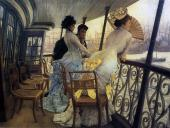 The Gallery of H.M.S. Calcutta - Portsmouth (Tissot)