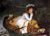 Young Lady in a Boat (Tissot)