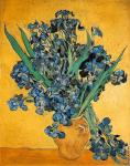 Vase with Irises Against a Yellow Background (Van Gogh)