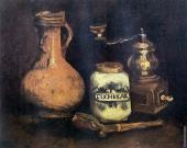 Still Life with Coffee Mill Pipe Case and Jug (Van Gogh)