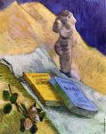 Still Life with Plaster Statuette and Two Novels (Van Gogh)