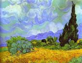 Wheat Field with Cypresses 1 (Van Gogh)