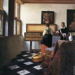 A lady at the virginals with a gentleman* (Vermeer)