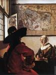 Officer with a laughing girl (Vermeer)